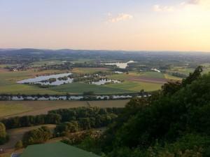 Ausblick Wittekindsburg von der Startrampe